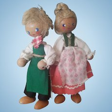 Vintage Resi Prosel Wooden Jointed Doll Lot
