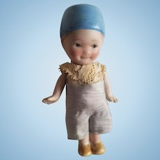 """Vintage All Bisque Character Doll 4"""""""