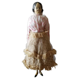 "Antique 1800's 13"" Paper Mache Milliner's Model Doll"