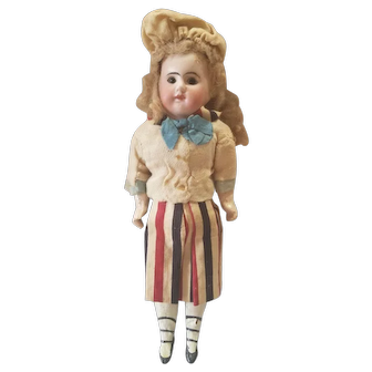 Vintage Early 1900's French Bisque Head Doll All Original