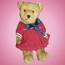 """Vintage Cute Mohair Sailor Girl Teddy Bear 16"""""""