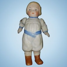 Vintage Hertwig All Bisque Googly Campbell Kid Doll