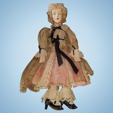 Vintage 1930's Very Finely Dressed Bed Doll