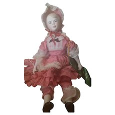 1963 Bisque Maggie Head Country Girl Doll