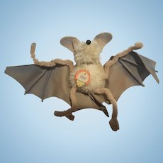 Vintage 1950's Steiff Eric the Bat Mohair Toy