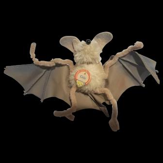 Vintage 1950's Steiff Eric the Bat Mohair Toy