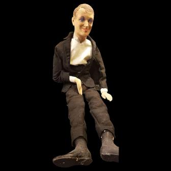 Vintage 1930's Fred Astair Paper Mache Display Doll