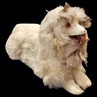 Vintage French Fur Covered Dog Fashion Foll Companion