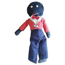 Vintage Early Folk Art Golliwog Doll 21""