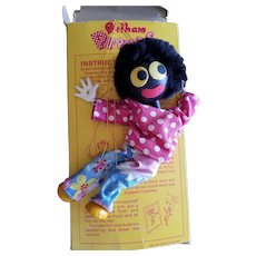 Vintage Pelham Golly Golliwog Puppet Doll in Box