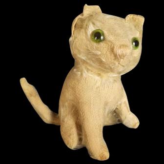 "Vintage 1920's Farnell Mohair Cat 6 1/2"""