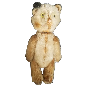 Vintage Schuco Yes No Mohair Kitty Cat