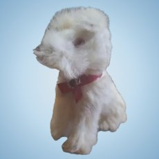 Vintage Fur Covered Dog Doll Companion