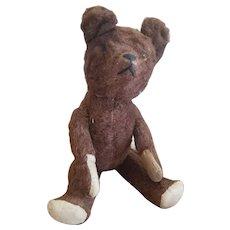"""Vintage Chocolate Mohair Teddy Bear 18"""""""