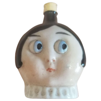 Vintage 1920's Bisque Googly Eye Doll Perfume Container