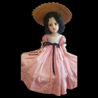 """1939 Madame Alexander 14"""" Composition Scareltt O'Hara Doll"""