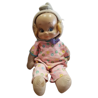 Vintage Composition Three Face Trudy Doll