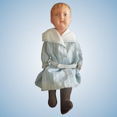 "Vintage Boston Mass Celluloid Head Doll 18"""