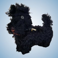 Sweet Vintage Yes No Mohair Scottie Terrier Dog