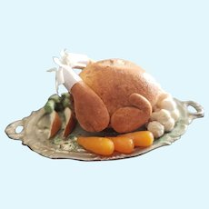 Vintage Dollhouse Miniature Turkey Platter