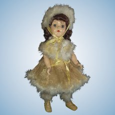 Very Pretty 1950's Ideal P-92 Toni Skating Doll