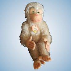 1950's Steiff Mohair Jocko White Monkey