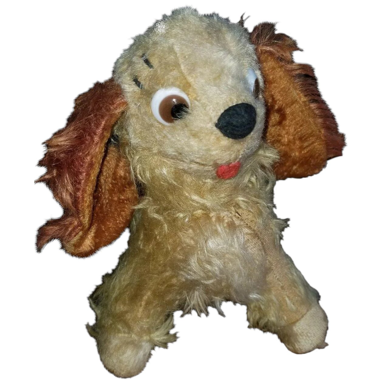 Vintage Mohair Disney Lady The Tramp Dog With Glass Eyes Your Favorite Doll Ruby Lane