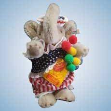 Vintage Steiff Circus Balloon Seller Elephant