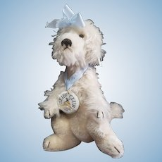 Vintage Steiff Mechanical Mohair Poodle Dog