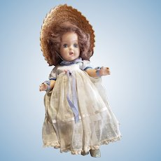 Very Pretty 1940's Composition Girl Doll
