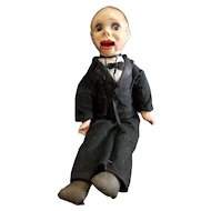 Vintage 1940's Composition Charlie McCarthy Doll