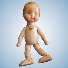 Vintage Joseph Kallus Pinkie Cameo Jointed Doll