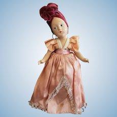 1940's Composition Carmen Miranda Doll