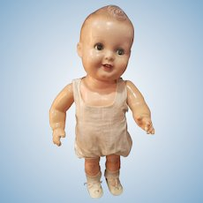 """1930's Rare Large 19"""" Freundlich Composition Baby Sandy Doll"""