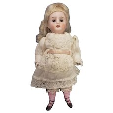 "Adorable 5 3/4"" All Bisque German Doll All Original"