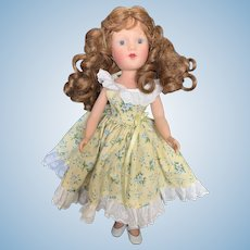 """Lovely 13 1/2"""" Vintage  Vinyl Reproduction Mary Hoyer Doll"""