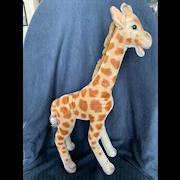 """1950's Steiff Large Mohair Giraffe19"""""""