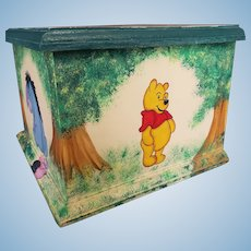 Wonderful Artist Hand Painted Winnie the Pooh Doll Chest