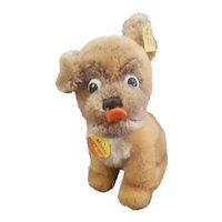 "Vintage Steiff 5"" Mopsy Dog All I.D."