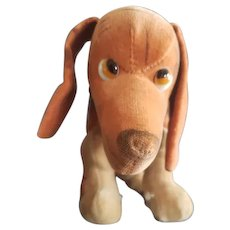 Vintage Enico or Farnell Velvet Googly Eye Hound Dog