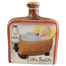 "Vintage 1920's Bisque Flask ""Little Scotch"""