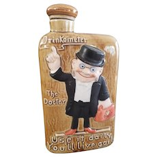 Vintage Bisque Drinkometer Doctor Flask