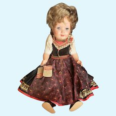 Vintage German Schmider Celluloid Doll with Tag