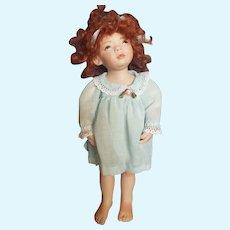 """Vintage 1990 U.F.D.C. Lawlee O'Connor 10"""" Bisque Doll"""