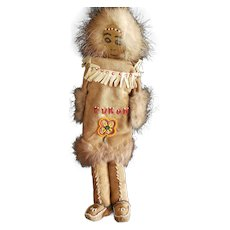 Vintage Alaskan Yukon Indian Native American Doll