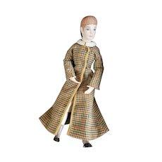 """UFDC Doll Artist Lita Wilson Nellie Bly Bisque Doll 14 1/2"""""""