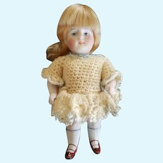 """Adorable All Bisque Kestner 5"""" Chubby 720 Doll All Original"""