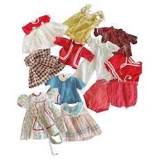 1940's Lot Vintage Shirley & Other Compo Doll Clothes