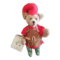 "Adorable Teddy Bear Artist 3"" Linda Nelson Santa's Helper Teddy Bear"