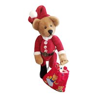 Adorable Teddy Beart Artist Terry Hayes Santa Teddy Bear 4 3/4""